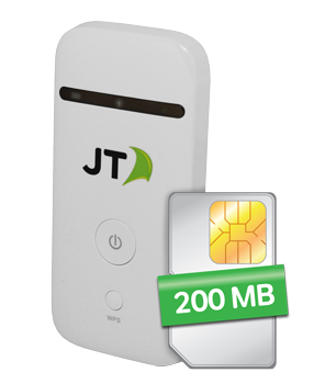 JT Hotspot + Data SIM with 200MB